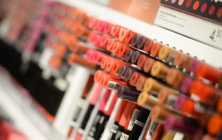 Cosmetic Display in Stores